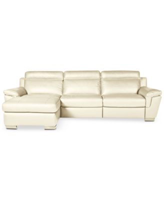 macy s sectional sofa vegetarian leather furniture closeout julius 3 pc with chaise and 1 power recliner