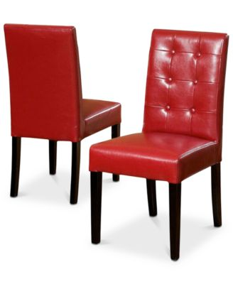 leather dining chairs seat pockets for school kitchen room macy s lorcan chair set of 2 quick ship