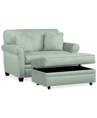 single sleeper chair bathtub lift furniture kaleigh 55 fabric bed storage