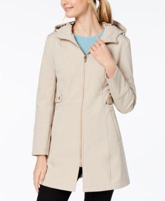 also via spiga side tab hooded raincoat coats women macy   rh macys