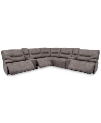 sectional sofas recliners for sunrooms furniture felyx 7 pc fabric sofa with 3 power headrests