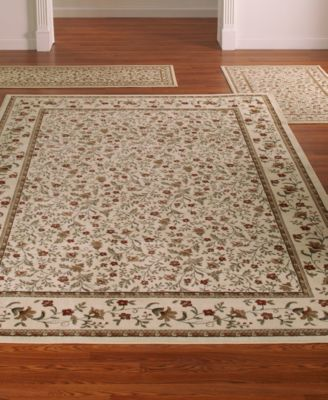 CLOSEOUT KM Home Roma Floral Ivory 3Pc Rug Set  Lighting  Lamps  Home  Macys
