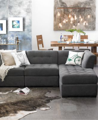 closeout living room furniture kitchen flooring ideas roxanne 33 fabric armless chair created for macy s