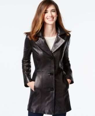 Anne Klein Leather Blazer Jacket  Coats  Women  Macys