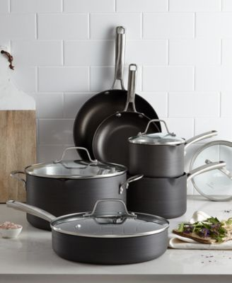 macy's kitchen sets hotels with kitchens in san diego calphalon classic nonstick 10 pc cookware set created for macy s main image