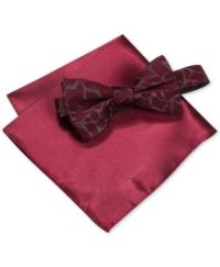 Alfani Men's Walsh Abstract Bow Tie & Pocket Square Set ...
