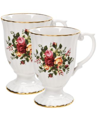Royal Albert Old Country Roses Fluted Mugs Set Of 2
