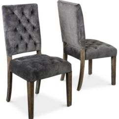 Gray Dining Chair Lawn Usa Kitchen Room Chairs Macy S Bowe Set Of 2 Quick Ship
