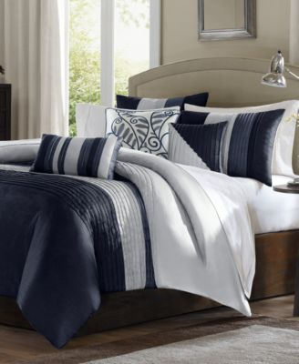 navy blue bedding macy s