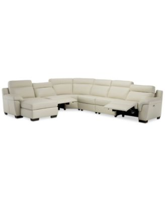 macy s sectional sofa klaussner leather reviews sofas julius ii 6 pc chaise with 2 power recliners