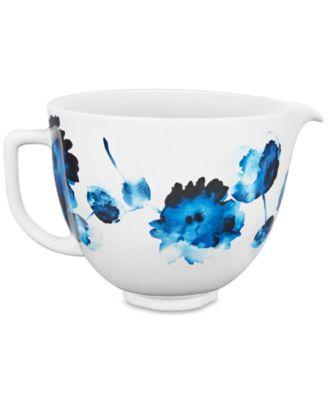 kitchen aid bowls cabinets raleigh nc kitchenaid 5 qt floral ceramic bowl small appliances main image