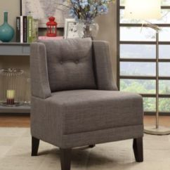 Fabric Side Chairs Zac Swivel Chair Poundex Brown Home Macy S Main Image