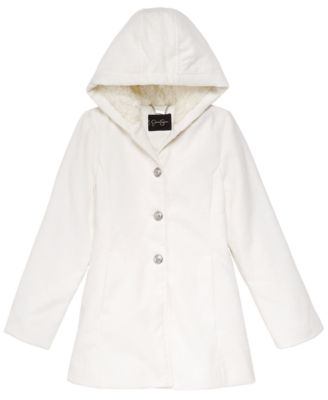 Jessica simpson big girls hooded embossed floral print jacket also coats shop macy   rh macys