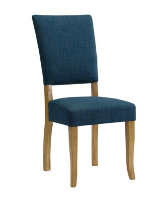 parsons chairs with skirt west elm everett chair shop furniture online macy s set of 2 open back dining in blue