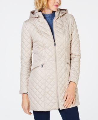 Via spiga quilted hooded coat also womens coats macy   rh macys
