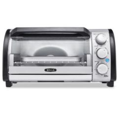 Bella Kitchen White Island 14326 Toaster Oven 4 Slice Capacity Small Appliances Main Image