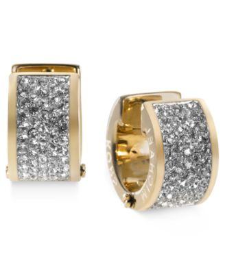 Michael Kors Crystal Pave Huggie Earrings