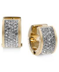Michael Kors Crystal Pave Huggie Earrings - Jewelry ...
