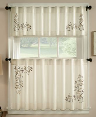 kitchen curtians wood countertops curtains macy s chf leaf scroll 58 x 14 valance
