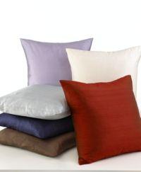 "Softline Tasar Silk 20"" Square Decorative Pillows ..."