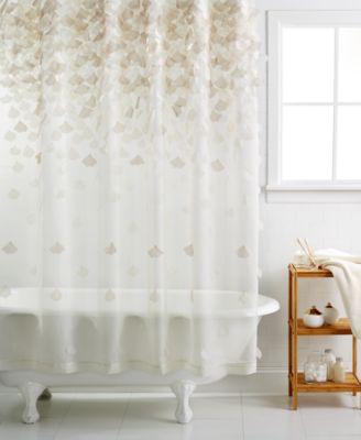 Martha Stewart Collection Falling Petals Shower Curtain  Bathroom Accessories  Bed  Bath  Macys