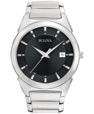 Bulova Mens Stainless Steel Bracelet Watch 38mm 96B149