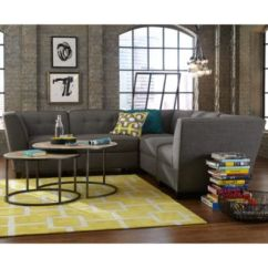 Harper Fabric 6 Piece Modular Sectional Sofa Best Power Reclining 2016 Furniture Closeout With Chaise Ottoman Created