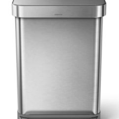 Trash Can Kitchen Chandelier Lowes Simplehuman 55l Step Gadgets Macy S Main Image