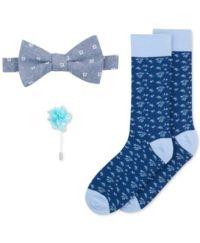 Bar III Men's Bow Tie, Lapel Pin & Socks Set, Only at Macy ...