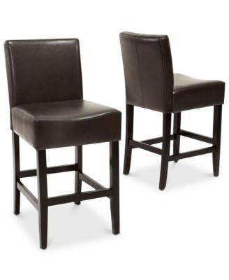 kitchen stools with backs towel bar macy s dawken counter stool set of 2 quick ship