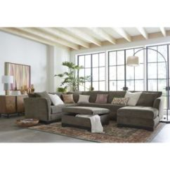 Closeout Living Room Furniture Pictures With Leather 2 Elliot Fabric Sectional Collection Created For Main Image