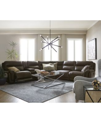 leather sectional sofas red cheap furniture summerbridge sofa collection with power recliners headrests and usb outlet