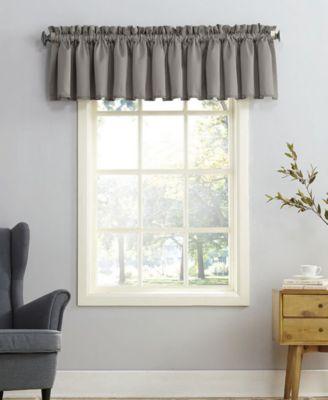 curtains kitchen metal studs for outdoor macy s sun zero grant room darkening pole top 54 x 18 valance