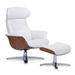 Recliner Vs Chair With Ottoman Dining Chairs Argos Furniture Anniston 31 Leather Swivel Set