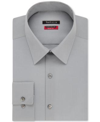 Main image also van heusen men   slim fit flex collar twill dress shirt rh macys