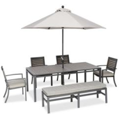 Outdoor Aluminum Chairs Patterns For Christmas Chair Covers Furniture Marlough Ii 6 Pc Dining Set 84 X 42 Main Image