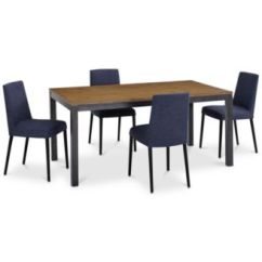 Set Of 4 Dining Chairs Macau Hanging Chair Jysk Furniture Gatlin Collection Created For Macy S 5 Pc Table