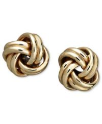18k Gold Earrings, Love Knot Stud Earrings - Earrings ...