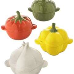 Macy's Kitchen Sets Furniture For Small Martha Stewart Collection Set Of 4 Vegetable Cocottes Created Main Image