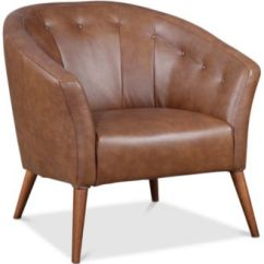 Leather Accent Chairs Shaker Chair Tape Furniture Montrose Created For Macy S