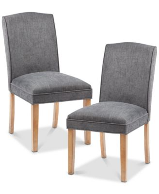 gray dining chair how to make a wooden kitchen room chairs macy s cayson set of 2 quick ship
