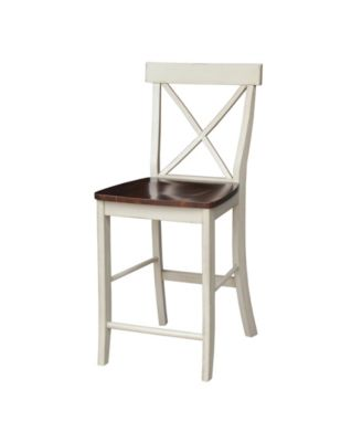 macy stool chair grey chairs for girls room international concepts x back counterheight 24 seat height