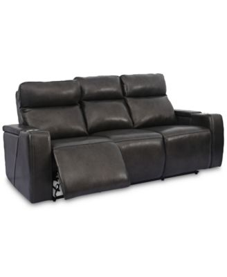 gladiator power dual reclining sofa reviews sleeper memory foam mattress sofas couches macy s oaklyn 84 leather with recliners headrests usb outlet and