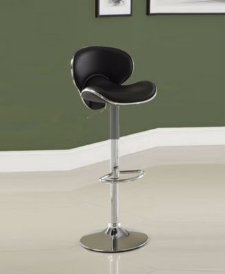 adjustable height chairs floating pool bar with benzara leather metal stool furniture main image