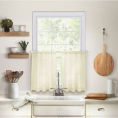 Kitchen Curtians Small White Island Curtains Macy S Elrene Cameron