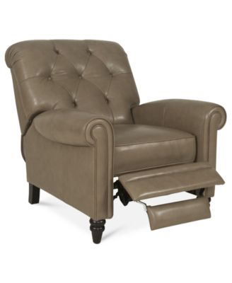 Martha Stewart Collection Leather Recliner Chair Bradyn