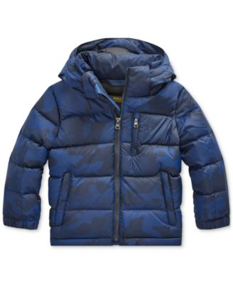 Polo Ralph Lauren Toddler Boys Riptop French Navy Camo Jacket. Created for Macy's & Reviews - Coats & Jackets - Kids - Macy's