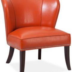 Leather Accent Chairs Child Potty Chair Sunday Theory Janie Faux Quick Ship
