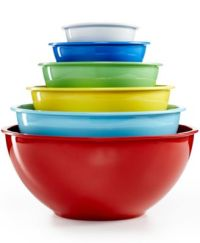 Martha Stewart Collection Set of 6 Melamine Mixing Bowls ...