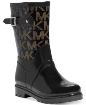 MICHAEL Michael Kors Logo Mid Rainboots  Boots  Shoes